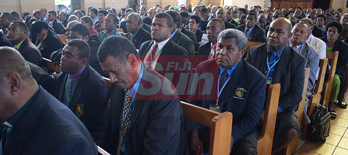Methodist Church of Fiji and Rotuma members during their annual conference at Centenary Church on August 22, 2019. Photo: Ronald Kumar.