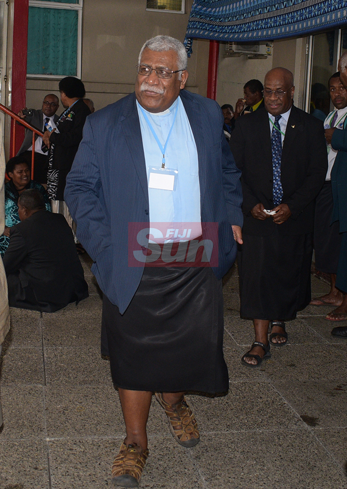 Methodist Church of Fiji and Rotuma General Secretary Rev. Ili Vunisuwai during annual conference at Centenary Church on August 22, 2019. Photo: Ronald Kumar.