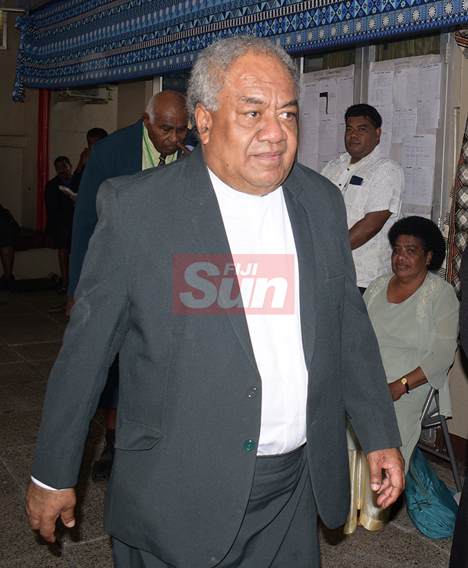Methodist Church of Fiji and Rotuma President Rev. Dr. Epineri Vakadewavosa during their annual conference at Centenary Church on August 22, 2019. Photo: Ronald Kumar.