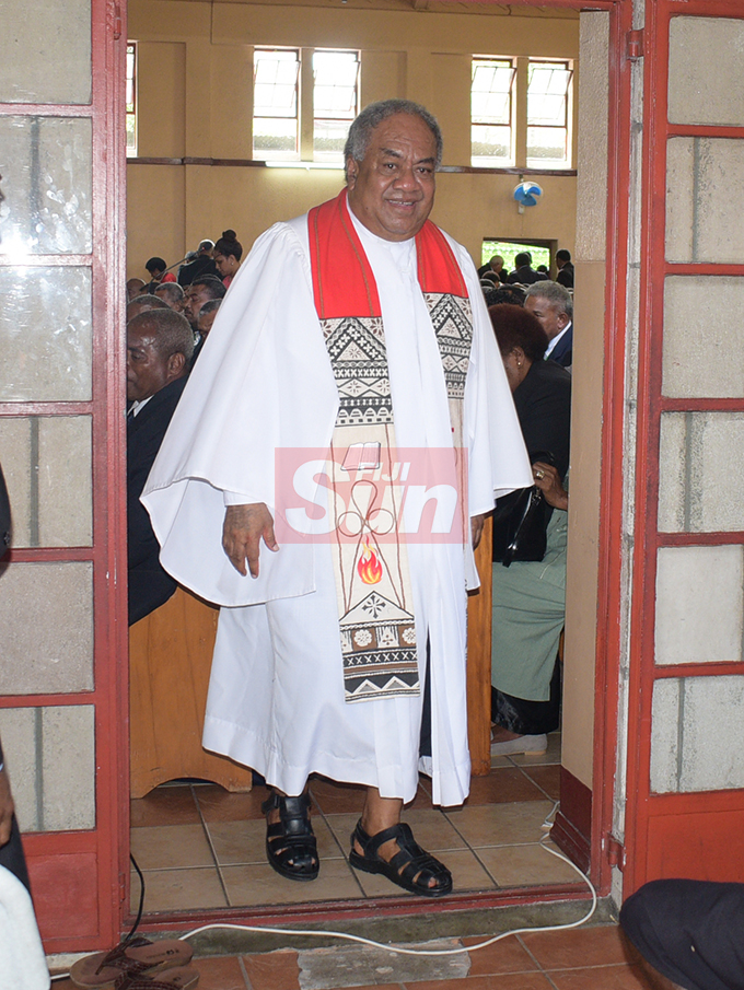 Methodist Church of Fiji and Rotuma President Rev. Dr. Epineri Vakadewavosa during their annual conference at Centenary Church on August 19, 2019. Photo: Ronald Kumar.