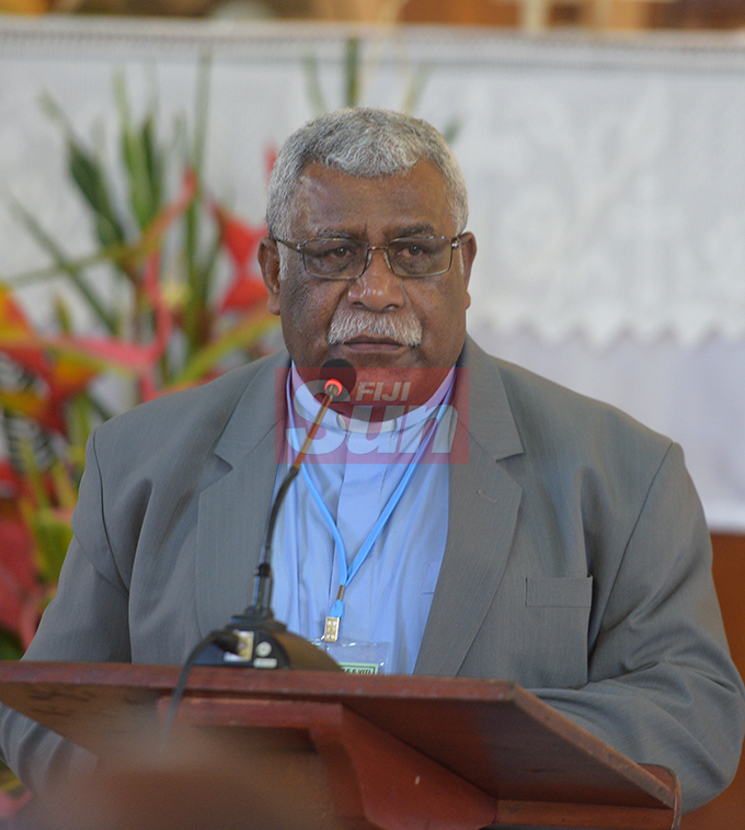 Methodist Church of Fiji and Rotuma General Secretary Rev. Ili Vunisuwai during their annual conference at Centenary Church on August 19, 2019. Photo: Ronald Kumar.