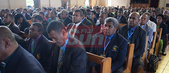 Methodist Church of Fiji and Rotuma members during their annual conference at Centenary Church on August 19, 2019. Photo: Ronald Kumar.