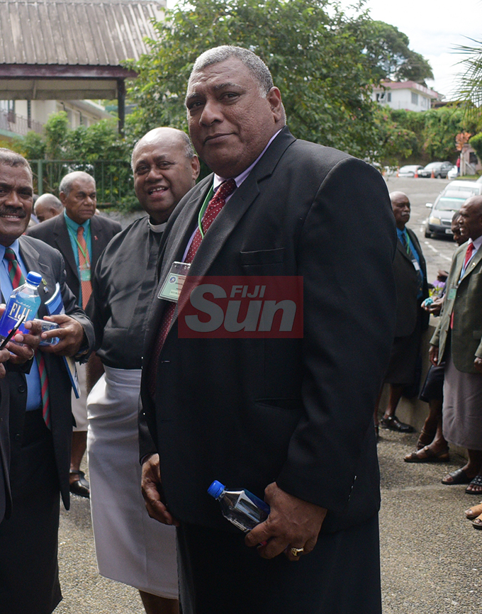 Tui Macuata Ratu Wiliame Katonivere (right) during Methodist Church annual conference at Centenary Church on August 19, 2019. Photo: Ronald Kumar.
