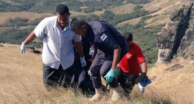 Police carry the fifth body found in the Nausori Highlands on Monday August 26, 2019.