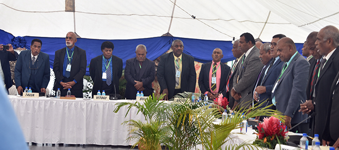 Chiefs and provincial council delegates during the Ba Provincial Meeting at Nawaka Village, Nadi, on July 30, 2019. Photo: Mereleki Nai