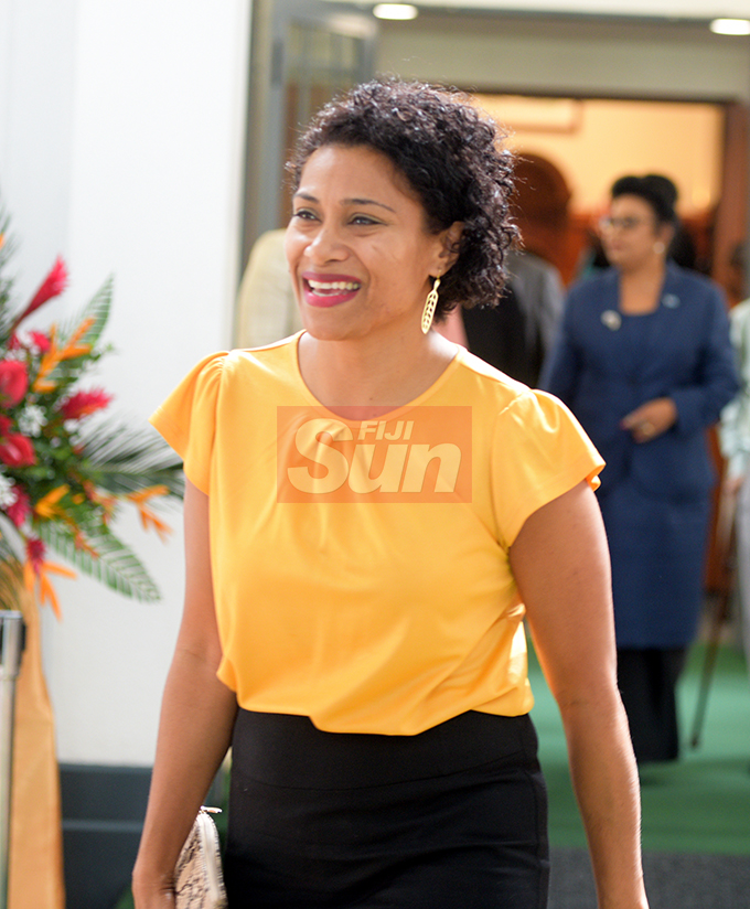 Opposition Mp, Lynda Tabuya outside Parliament on August 7, 2019. Photo: Ronald Kumar.