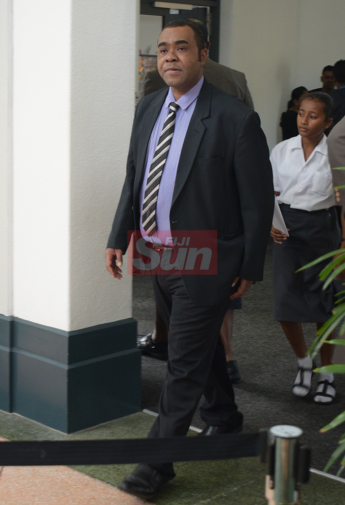 Opposition MP, Mosese Bulitavu outside Parliament on August 7, 2019. Photo: Ronald Kumar.