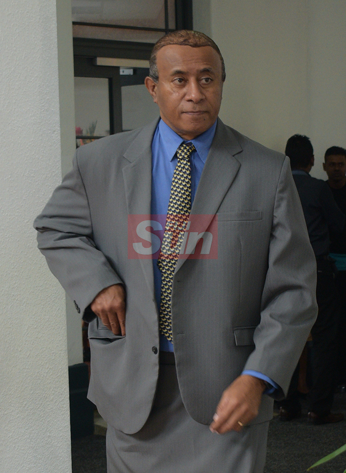 SODELPA President and Opposition MP Ro Filipe Tuisawau  outside Parliament on August 7, 2019. Photo: Ronald Kumar.