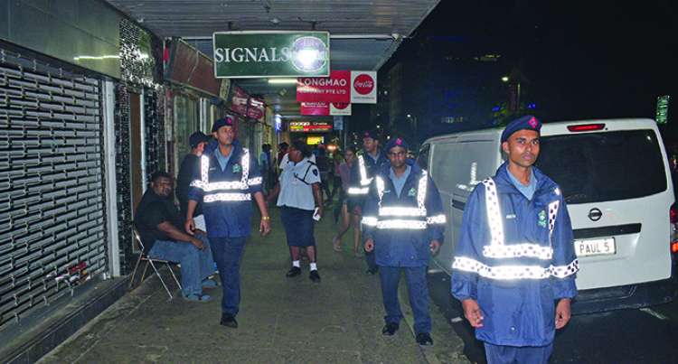 Fiji Police On Patrol Keeping City Safe