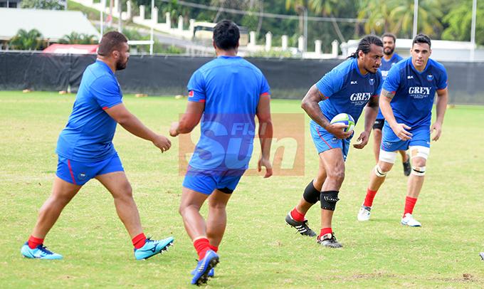 Samoa team Captains run at Albert Park on August 9, 2019. Photo: Ronald Kumar.