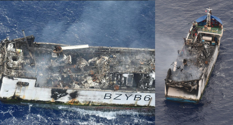 Chinese Fishing Vessel Damaged By Fire, 14 Onboard Safe