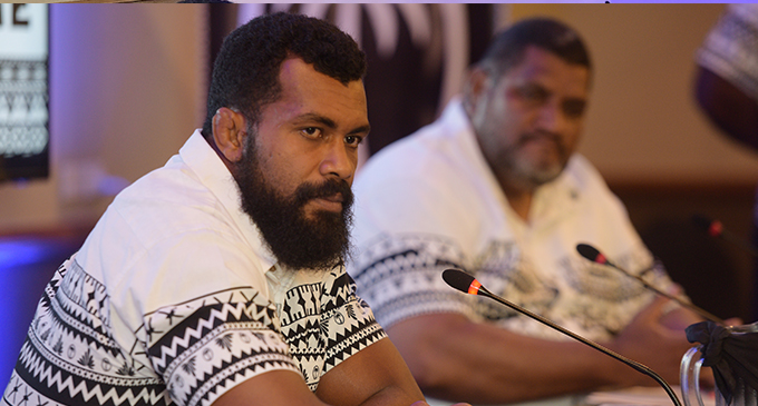 Fiji Airways Flying Fijians captain Dominiko Waqaniburotu during the Rugby World Cup team announcement on Friday August 17 at the Grand Pacific Hotel, Suva.
