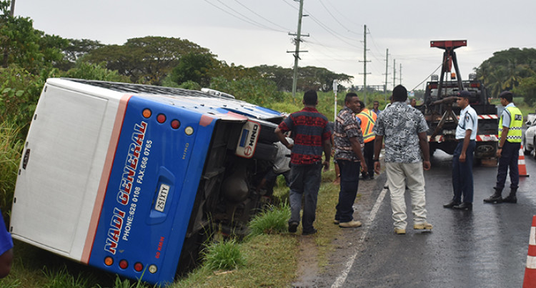 17 Students Safe After Bus Veered Into Drain