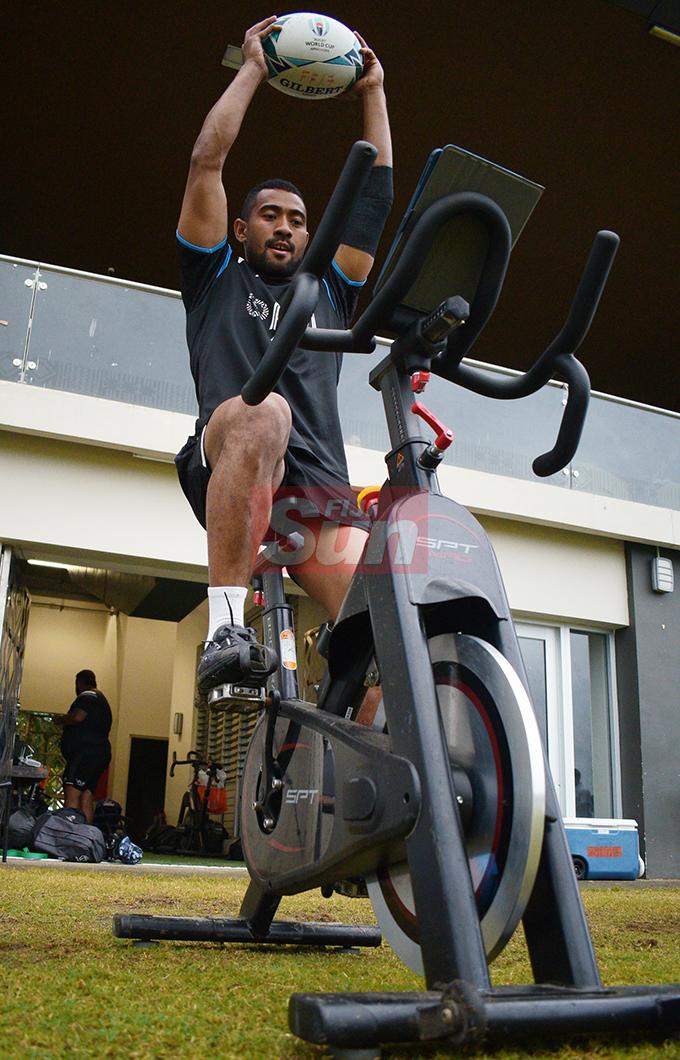 Henry Seniloli during training at Albert Park on August 20, 2019. Photo: Ronald Kumar.
