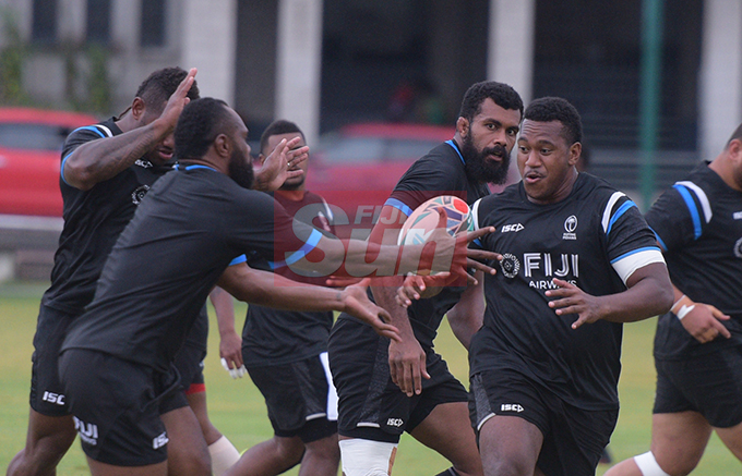 Eroni Mawi during training at Albert Park on August 20, 2019. Photo: Ronald Kumar.