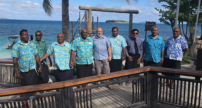 Nakelo Pte Limited board members with former Treasure Island Resort co-owner Bill Whiting (fifth from left) at the resort on August 21, 2019. Photo: Charles Chambers