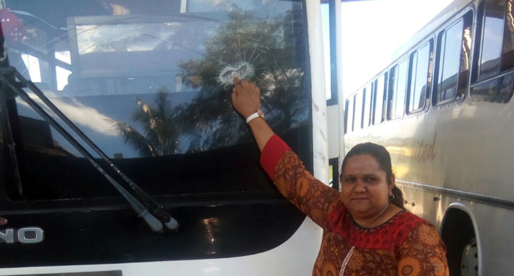 Vandals Stone Bus After Being Refused A Free Ride, Passenger Injured