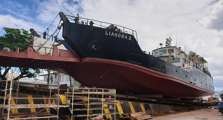 MV Liahona II Ramp Fixed, Special Survey To Determine Sail Day