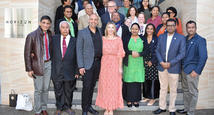 Church Service Perfect Prelude For Fiji And Australian Leaders' Talks in Canberra