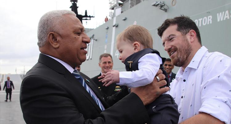 PM Bainimarama Surprises Australian Family At Baptism