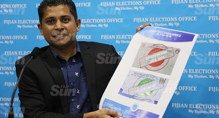Replace Voter Cards From Green To Blue