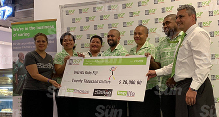 BSP Group Donates $20,000 to WOWS Kids Fiji