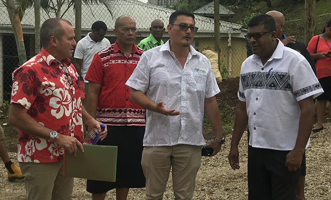From left: Australian High Commissioner to Fiji John Feakes, Fiji Kava Limited founder and managing director Zane Yoshida and Minister of Agriculture, Rural and Maritime Development, Waterways and Environment Mahendra Reddy during the launch of the new Kava Tissue Laboratory in Levuka, Ovalau on August 30, 2019. Photos: Inoke Rabonu.