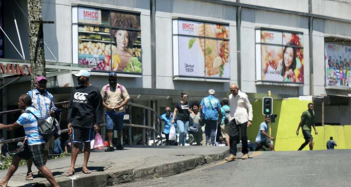 Outside MHCC in downtown Suva this morning. Photo: Kelera Sovasiga