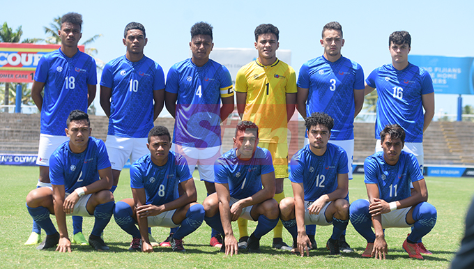 Samoan under 23 team for OFC Men's Olympic qualifier 2019 group a at ANZ Stadium on September 24, 2019. Photo: Ronald Kumar.