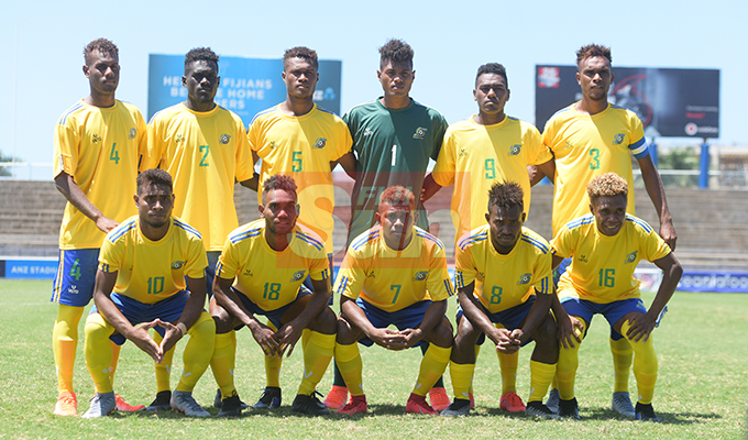 Solomon Island under 23 side for OFC Men's Olympic qualifier 2019 group A at ANZ Stadium on September 24, 2019. Photo: Ronald Kumar.