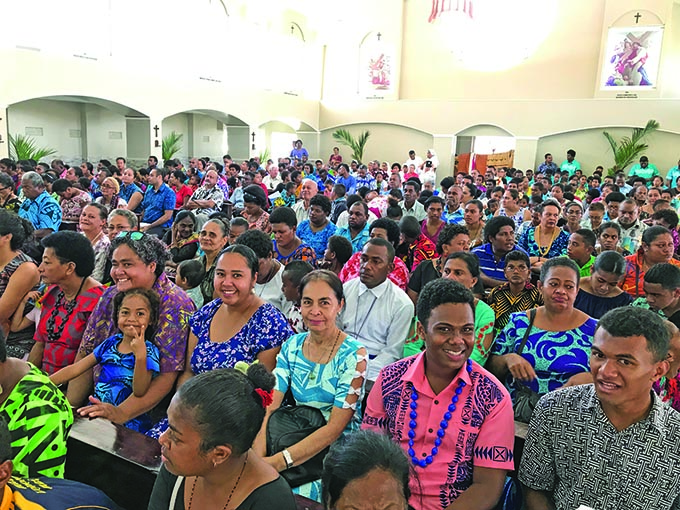 Part of the large turnout at the opening of the extended and renovated Our Lady of Perpetual Help Parish church in Lautoka on August 24, 2019. Photos: Charles Chambers