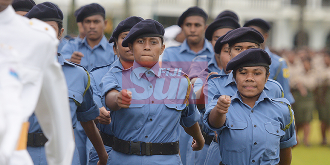 Ratu Sukuna Memorial School (RSMS) year 13 students during their pass-out Parade on September 4, 2019. Photo: Ronald Kumar.
