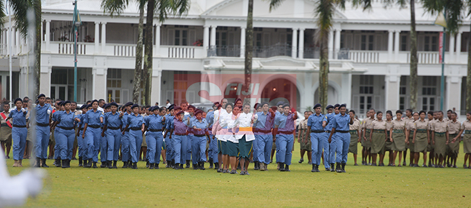 Ratu Sukuna Memorial School (RSMS) students during their pass-out Parade on September 4, 2019. Photo: Ronald Kumar.