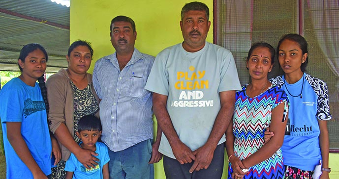 Families of alleged drowning victims 20 year old Avishek Kumar and 14 year old Avish Adhar in Sigatoka.  Photo: Mereleki Nai