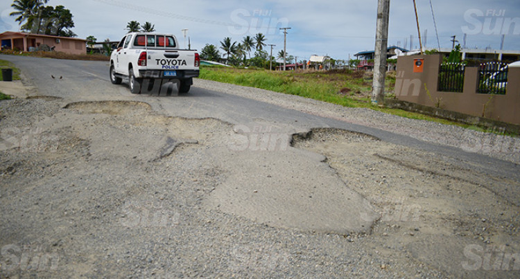 Pothole Sizes On Wainibuku, Nakasi Roads Compared To Lovo Pits