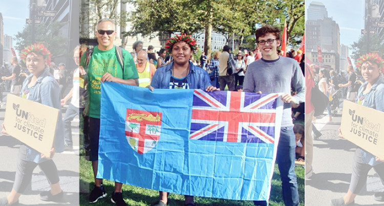NY Climate Summit: AnnMary Represents Fiji in Big March, New York City