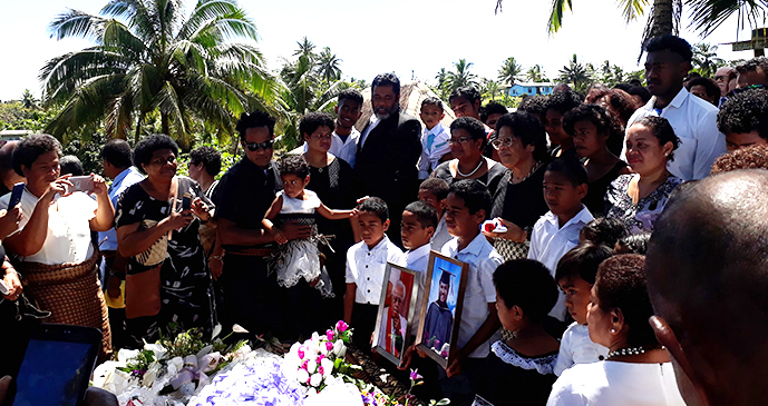 Families and friends gathered at the funeral of the late Reverend Laisiasa Ratabacaca at Davuilevu on October 1, 2019.