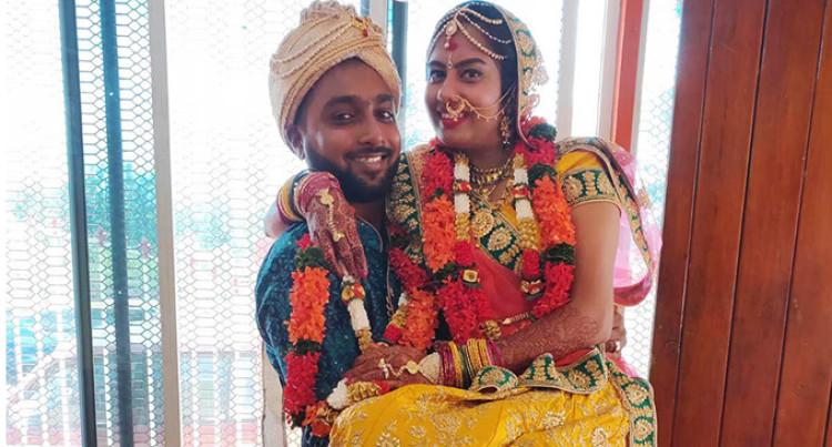 Newly Wed Couple Spend Diwali Together For The First Time