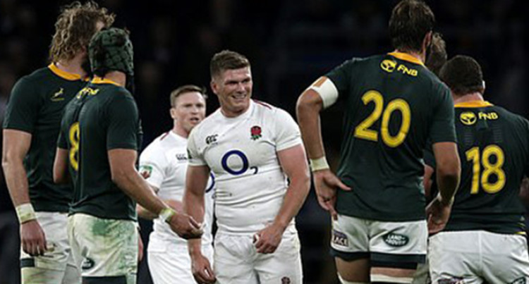 England And South Africa Battle Rugby World Cup Final Glory