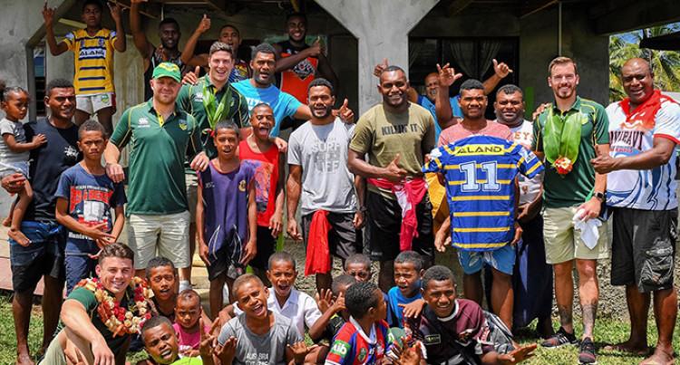 Parramatta Eels Visit Maika Sivo's Family While In Fiji