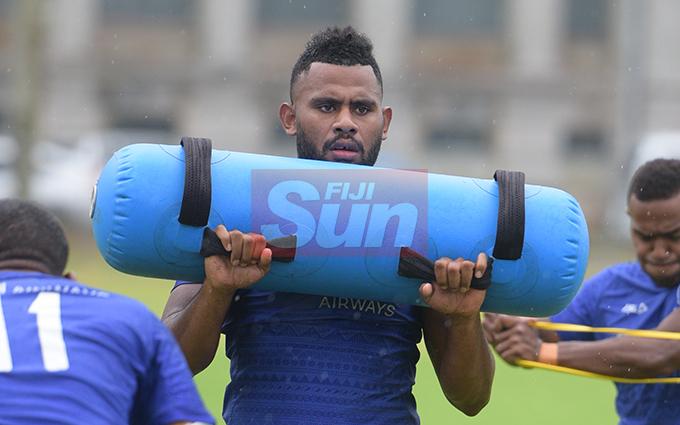Fiji Sevens extended squad member, Vilimoni Botitu   during team training at Albert Park on October 23, 2019. Photo: Ronald Kumar.