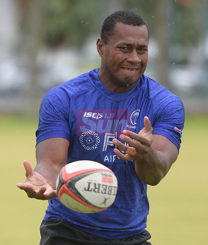 Fiji Sevens extended squad member, PaulaDraunisinukula during team training at Albert Park on October 23, 2019. Photo: Ronald Kumar.