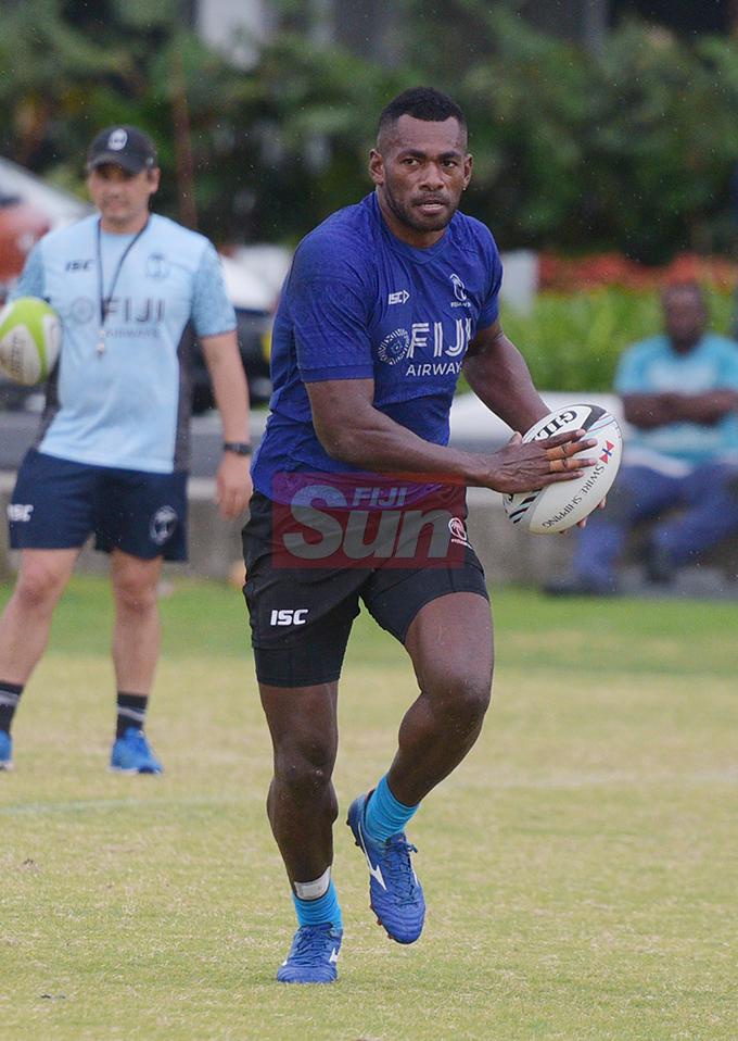 Fiji Sevens extended squad member, Sevoloni Mocenacagi during team training at Albert Park on October 23, 2019. Photo: Ronald Kumar.