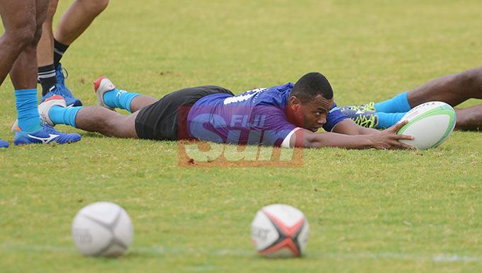 Fiji Sevens extended squad member,Alosio Naduva during team training at Albert Park on October 23, 2019. Photo: Ronald Kumar.
