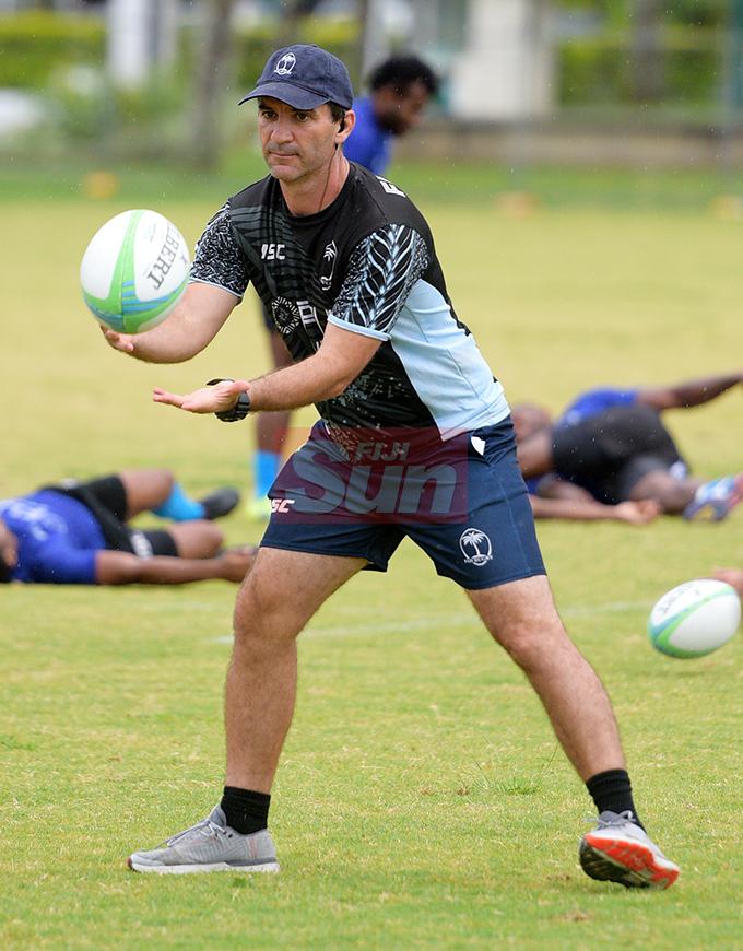 Fiji Sevens Head Coach, Gareth Baber during team training at Albert Park on October 23, 2019. Photo: Ronald Kumar.