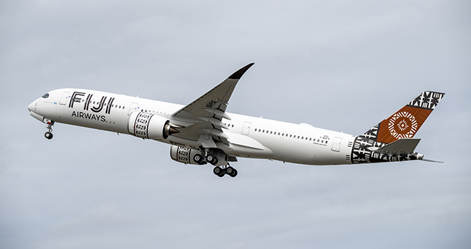 The first A350-941 for Fiji Airways first test flight at the Airbus facility in Toulouse. It will be part of the Dubai Air Show on November 17 and 18, on the way home from Toulouse.