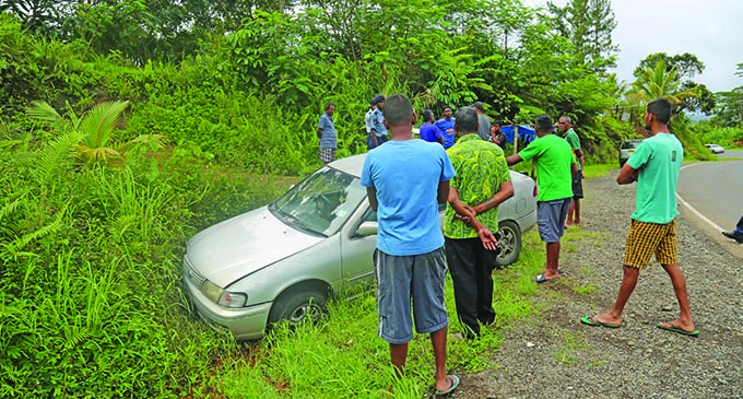 Car accident along Colo-i-Suva on October 27, 2019. Photo: Shalveen Chand