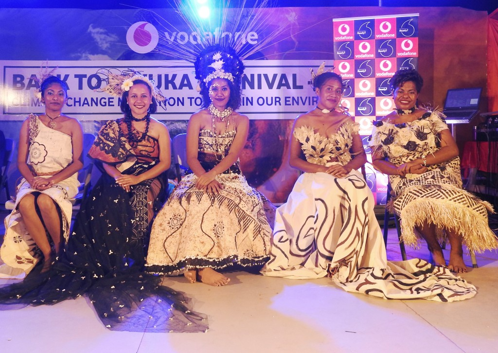 From left: Miss Civil Service, Sherti Chandra, Miss Levuka Town Council, Kalara Saqacala, Miss Illusions Fiji Samantha Whippy, Miss Bumble Bee Seafoods, Milika Blake and Miss Shas Amusement Rides, Wainisi Rekinalevu. Photo: Manhar Vithal