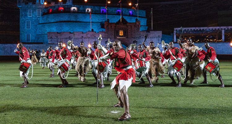 Republic of Fiji Military Forces Band Performs At Biggest Royal Edinburgh Military Tattoo