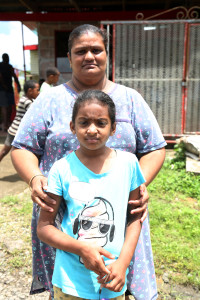 Pritika Kumari with her nine-year-old daughter Nashita Riya Singh who survived the bus accident. Photo: Kelera Sovasiga